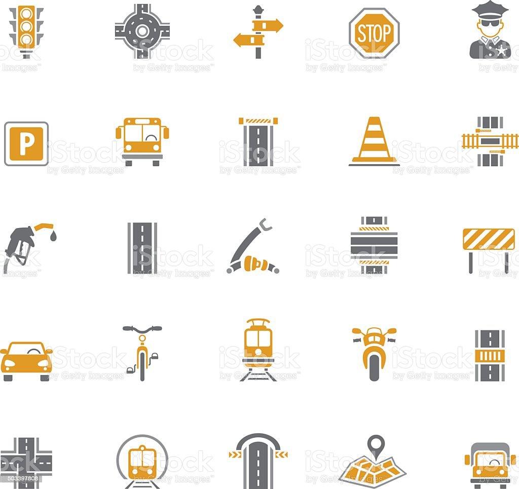 Traffic Icons vector art illustration