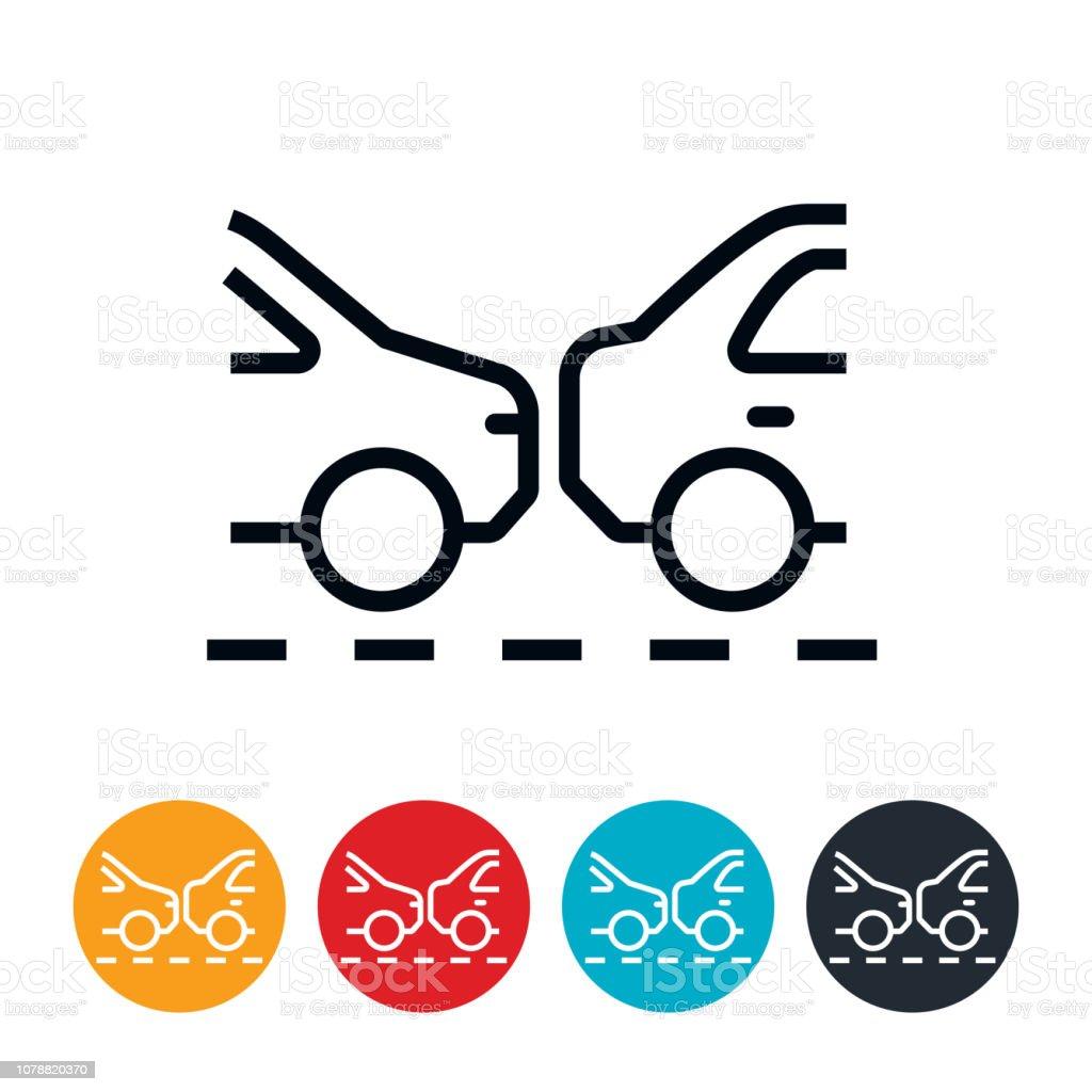 Traffic Jam Icon vector art illustration