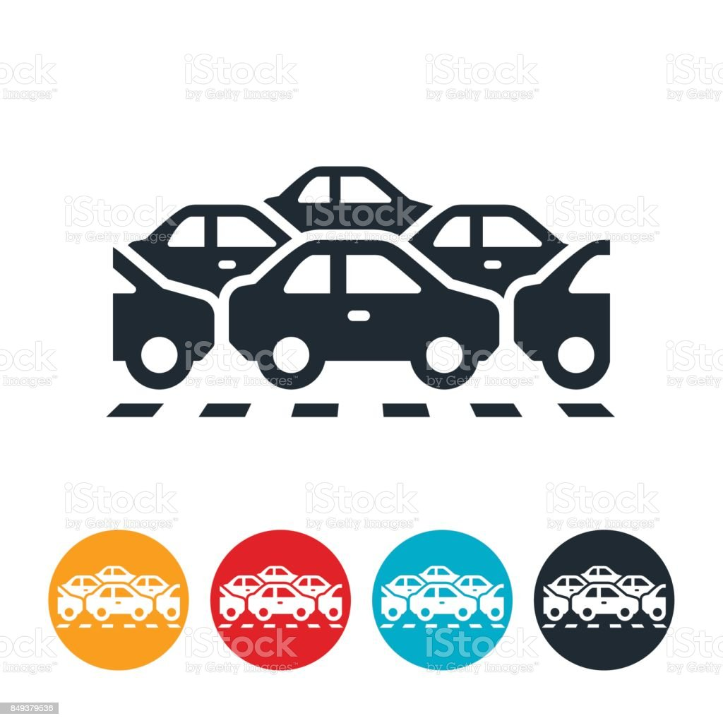 Traffic Jam Icon vector art illustration