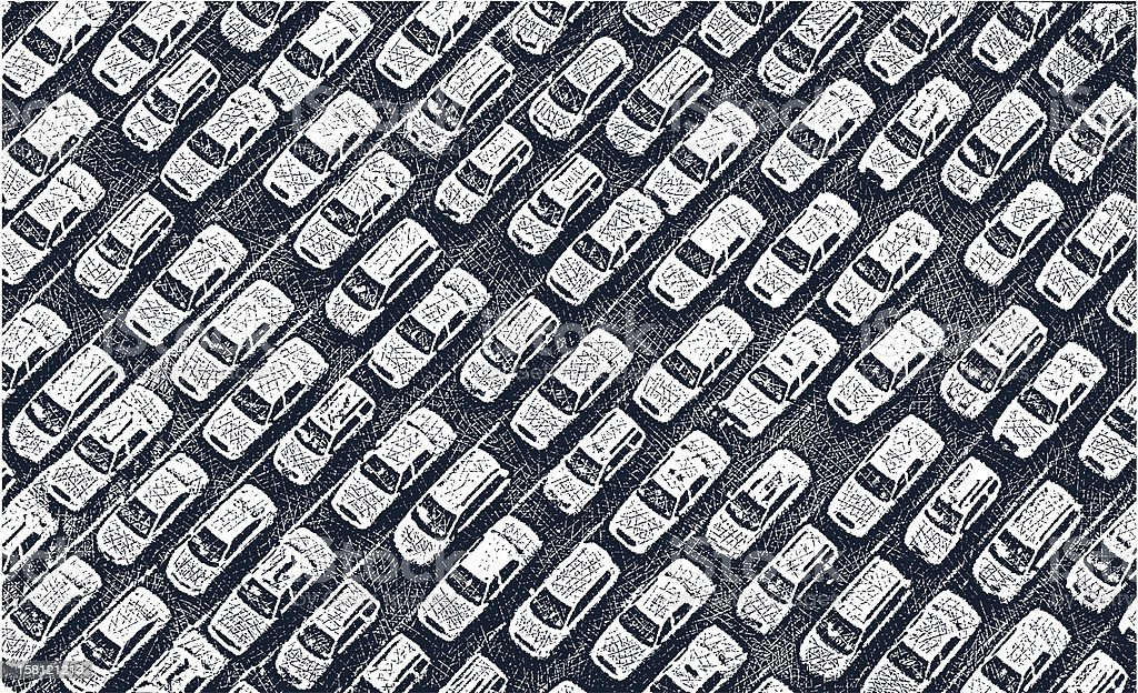 Traffic Jam vector art illustration