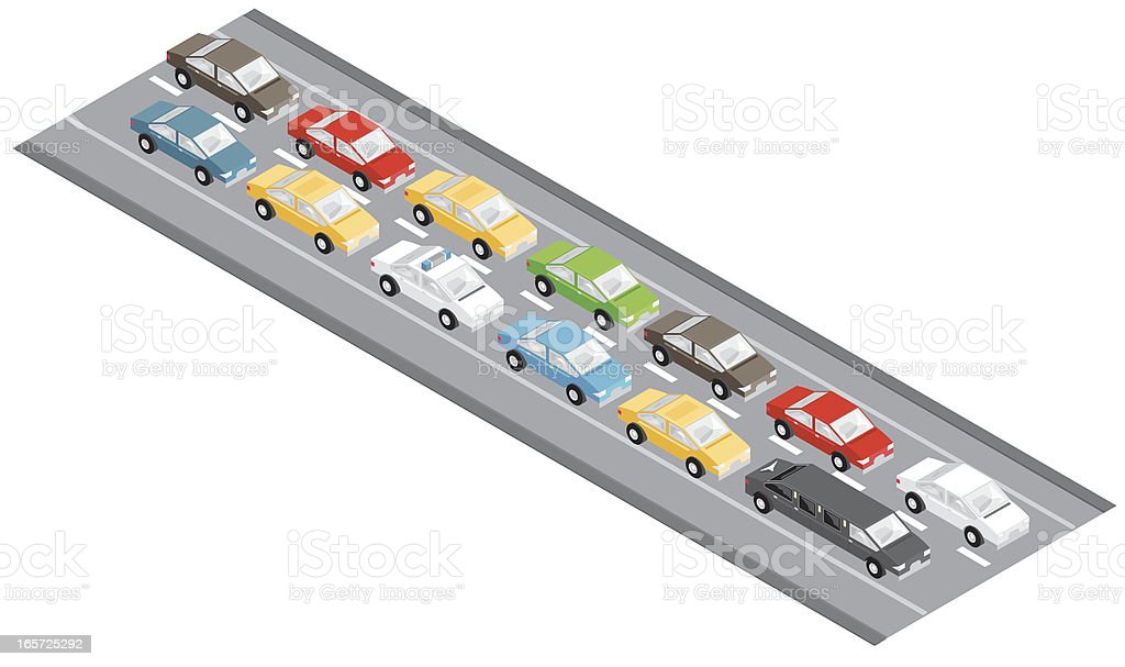Traffic jam royalty-free stock vector art