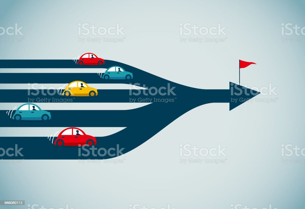 traffic jam commercial illustrator Abstract stock vector
