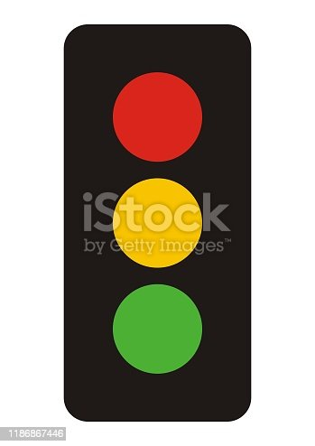 Traffic lights icon template color editable. Stoplight symbol vector sign isolated on white background. Simple logo vector illustration for graphic and web design.