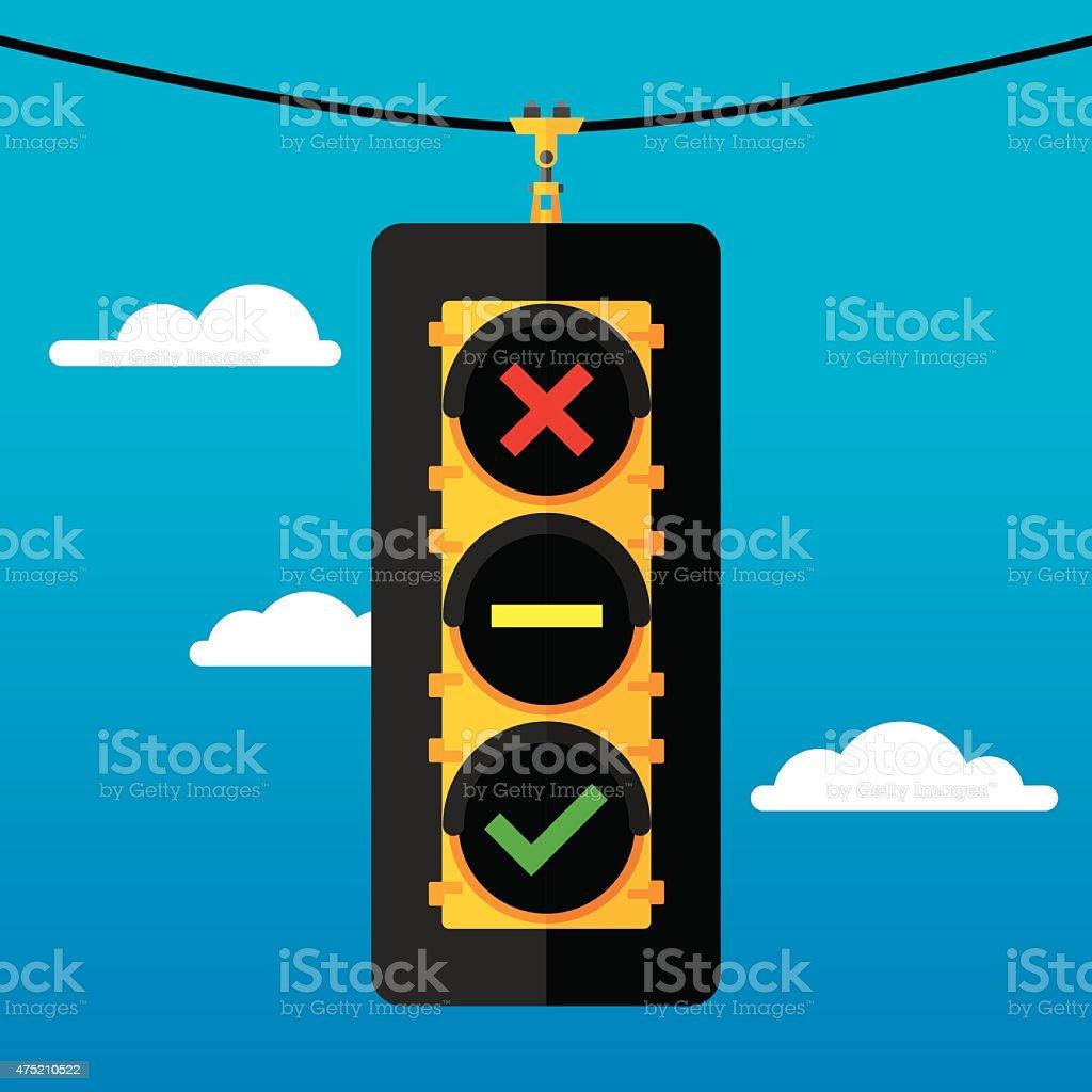 Traffic Light Flat Symbols vector art illustration