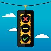 Traffic Light Flat Symbols