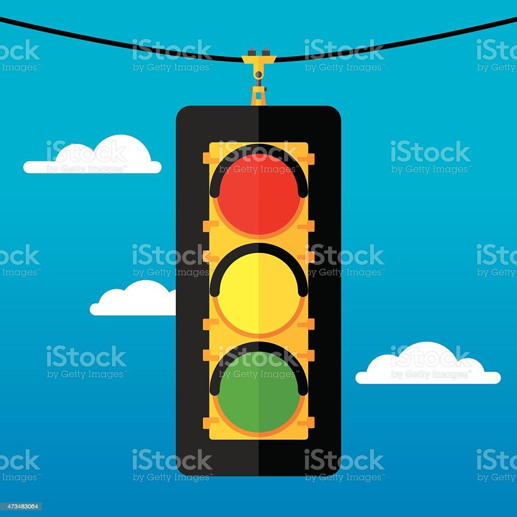 Traffic Light Flat vector art illustration