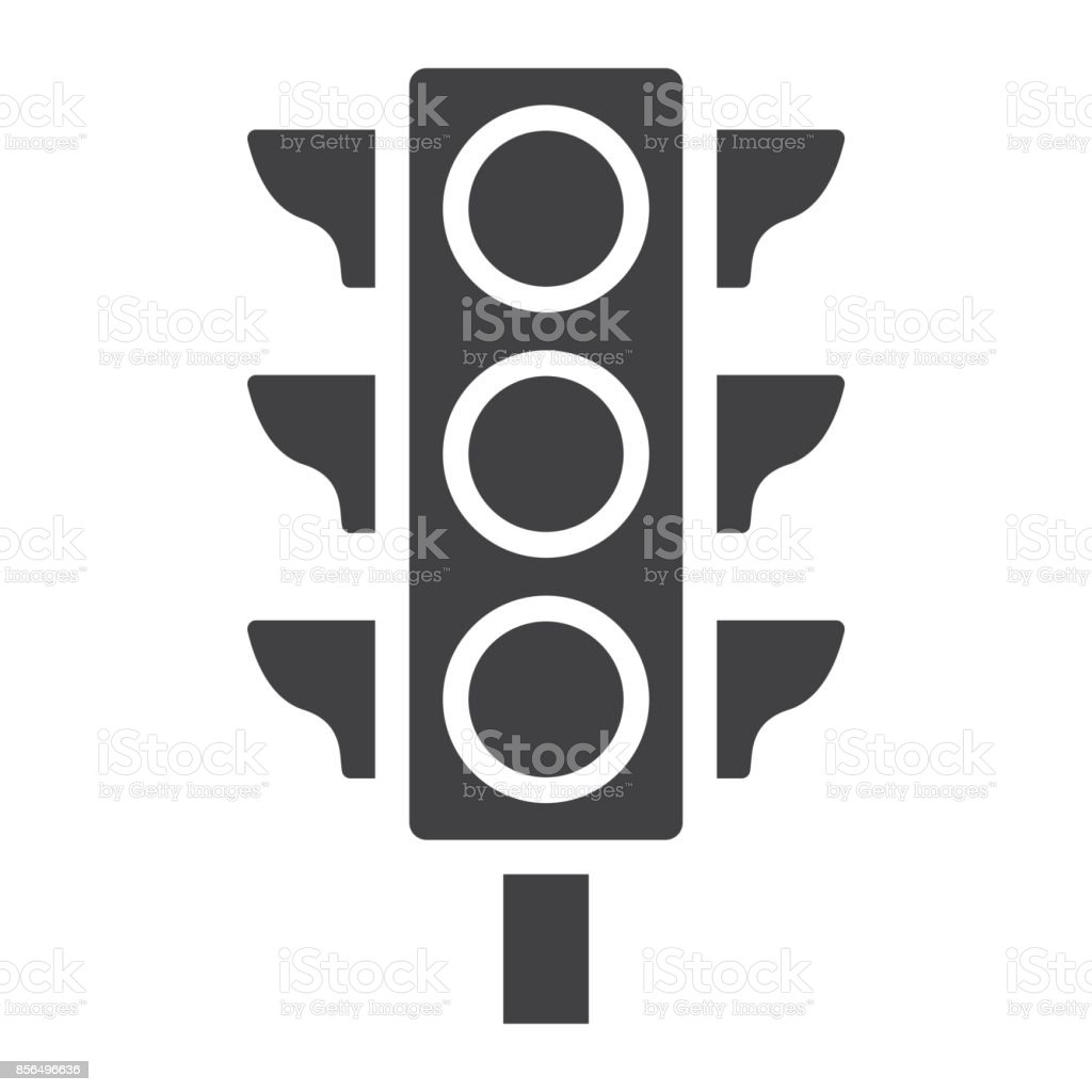 Ampelsymbol Glyphe Ampel Und Navigation Vektorgrafiken Verordnung ...