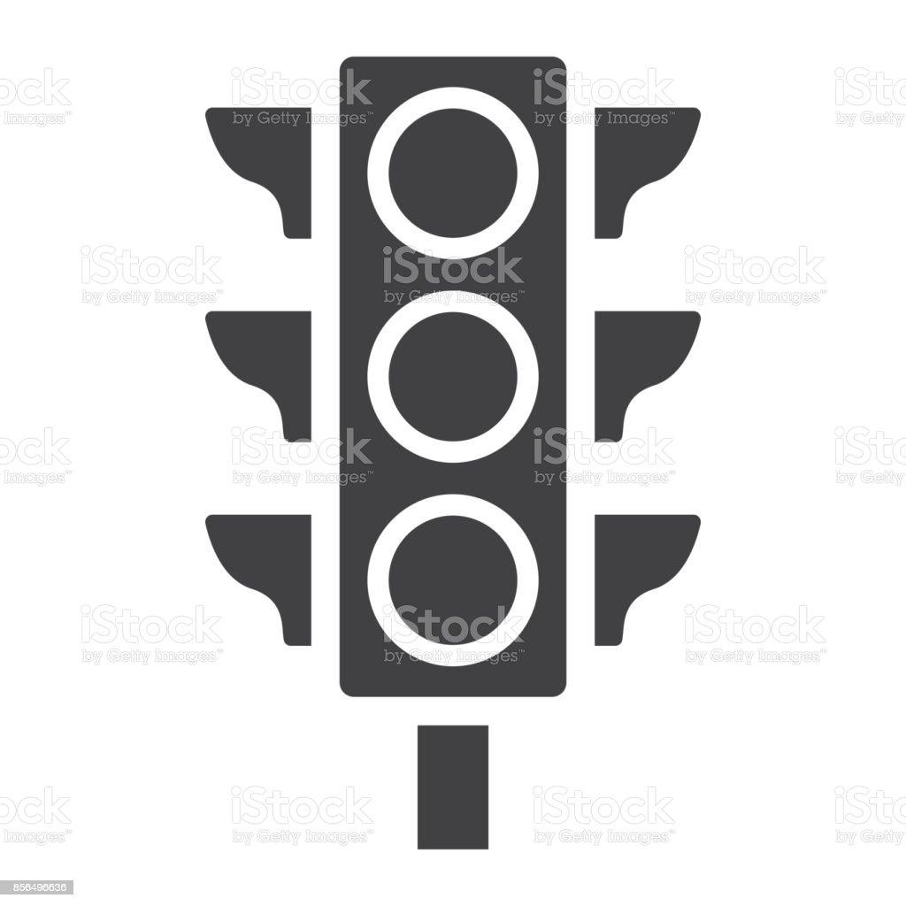 Icono de glifo de luz del semáforo, semáforo y navegación, Reglamento signo vector graphics, un patrón sólido sobre un fondo blanco, eps 10. - ilustración de arte vectorial