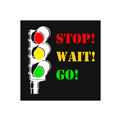 Traffic light hand drawn outline icon. Stop, wait, go. City traffic regulation and safety concept. Vector sketch illustration for print, web, mobile and infographics on white background.