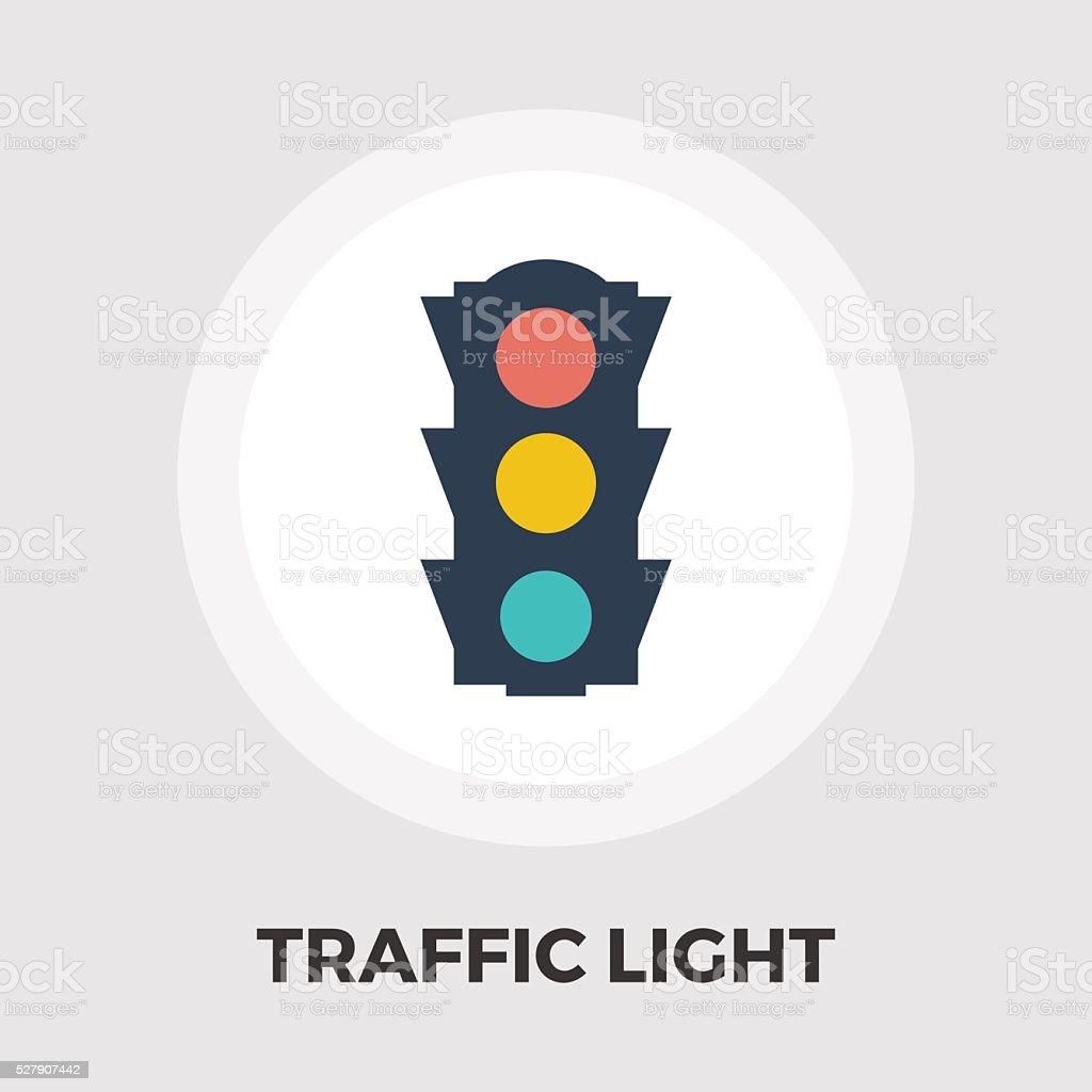 Traffic light icon flat vector art illustration