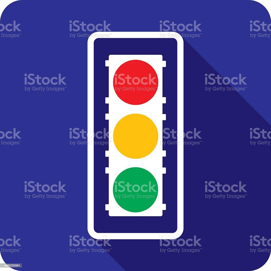 Traffic Light Icon Silhouette vector art illustration