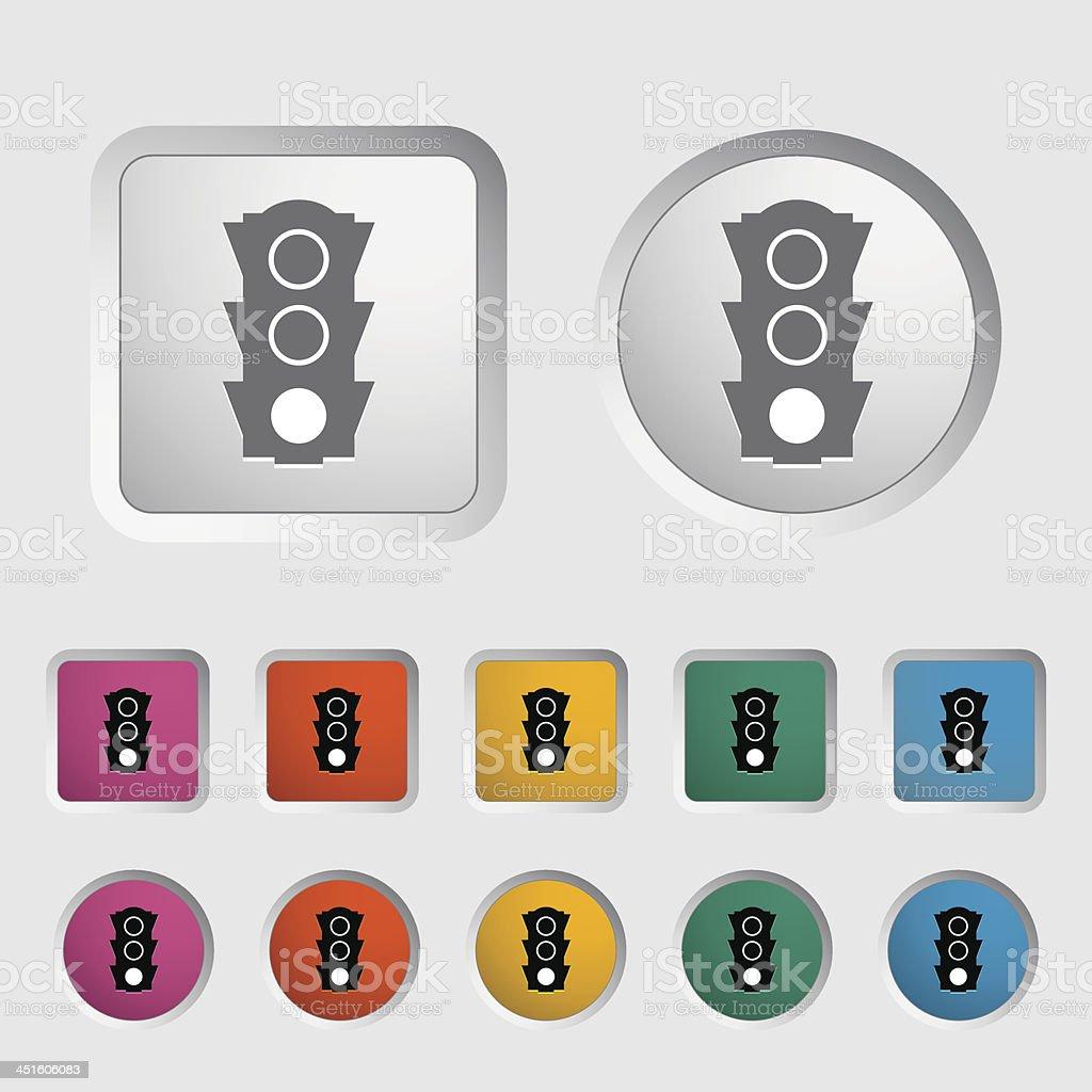 Traffic light icon. vector art illustration