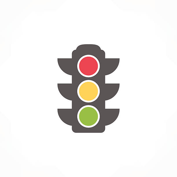 traffic light icon - stoplights stock illustrations, clip art, cartoons, & icons