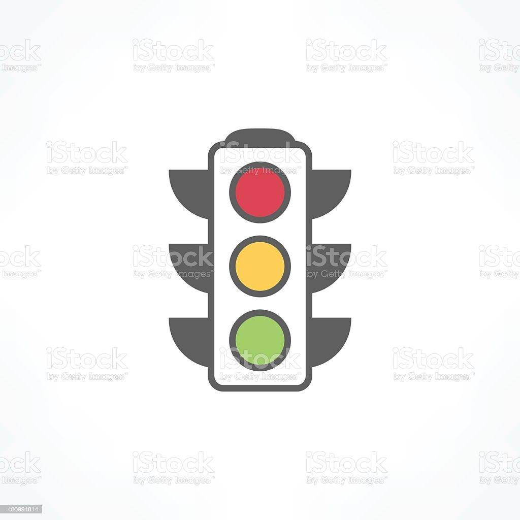 traffic light icon vector art illustration