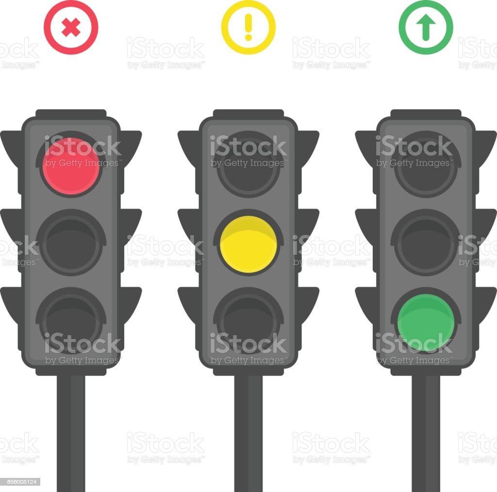 Iconos de semáforo. - ilustración de arte vectorial