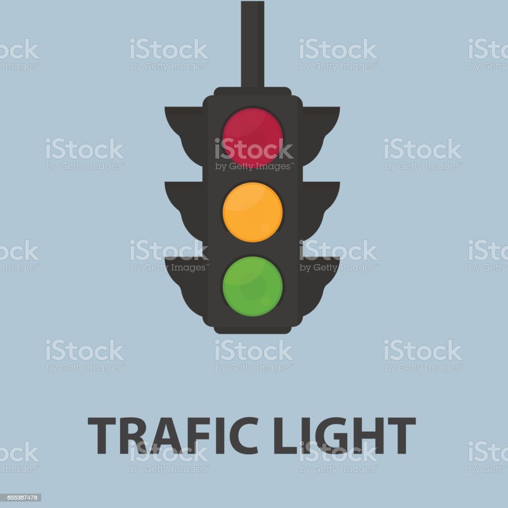 Traffic Light Illustration vector art illustration