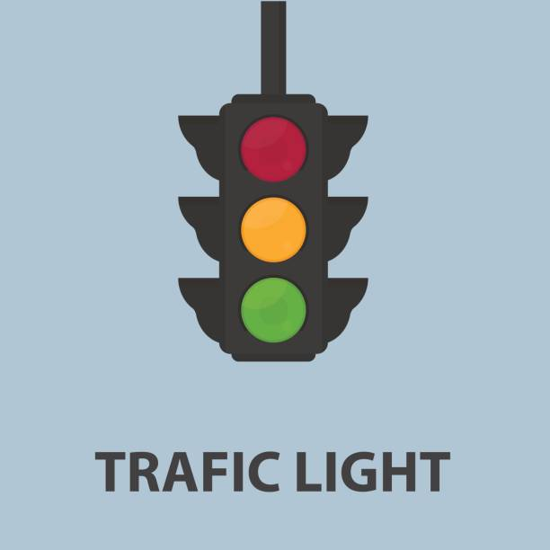 traffic light illustration - stoplights stock illustrations, clip art, cartoons, & icons