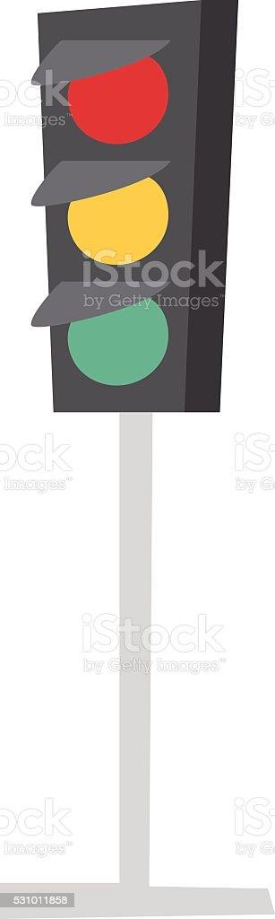 Traffic light isolated vector illustration vector art illustration