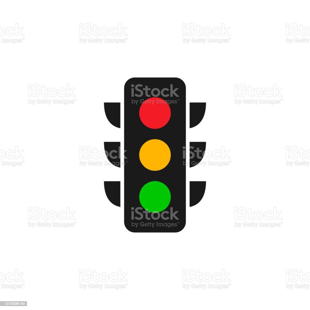 Traffic Light Logo Graphic Design Template Vector Illustration Stock