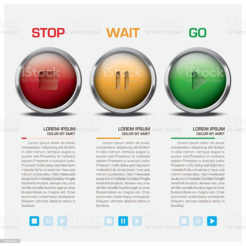 Traffic Light Sign Infographic vector art illustration