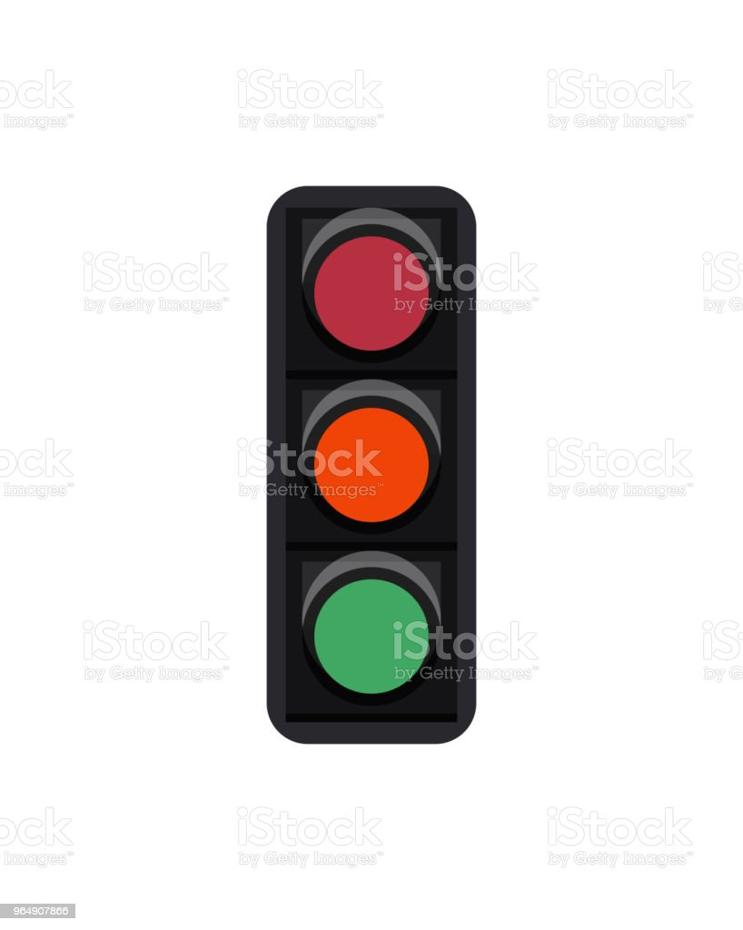 Traffic light sign isolated on white royalty-free traffic light sign isolated on white stock vector art & more images of advice