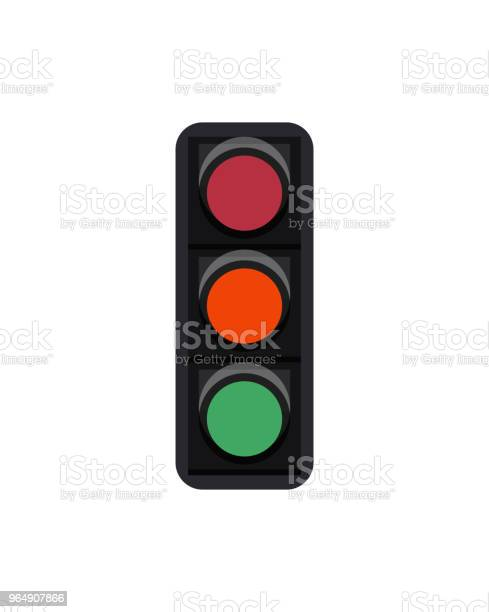 白色的紅綠燈標誌被隔離向量圖形及更多交通圖片