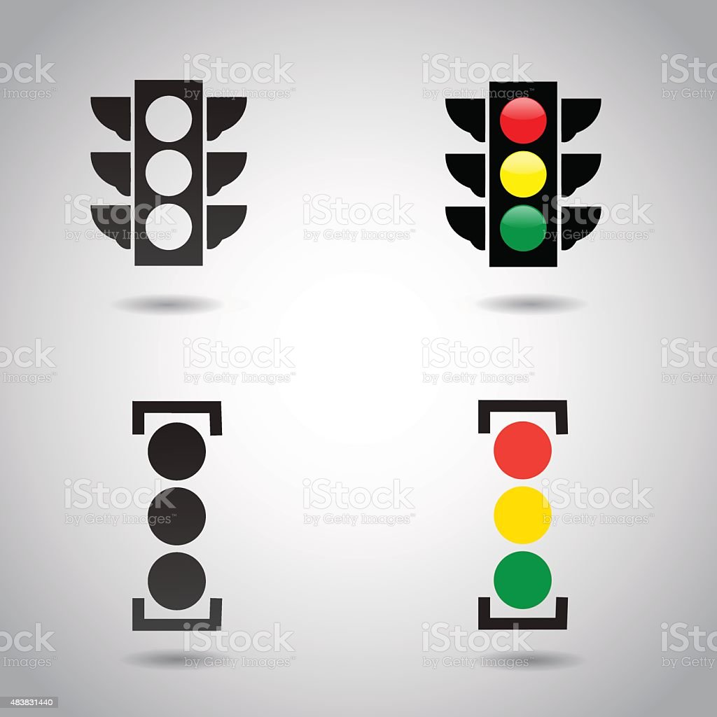Traffic light signal icon. vector art illustration