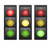 Traffic light stock vector illustration