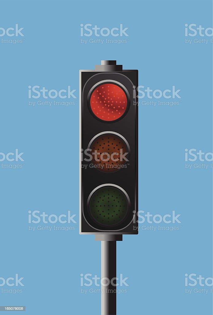 traffic light - stop signal royalty-free stock vector art
