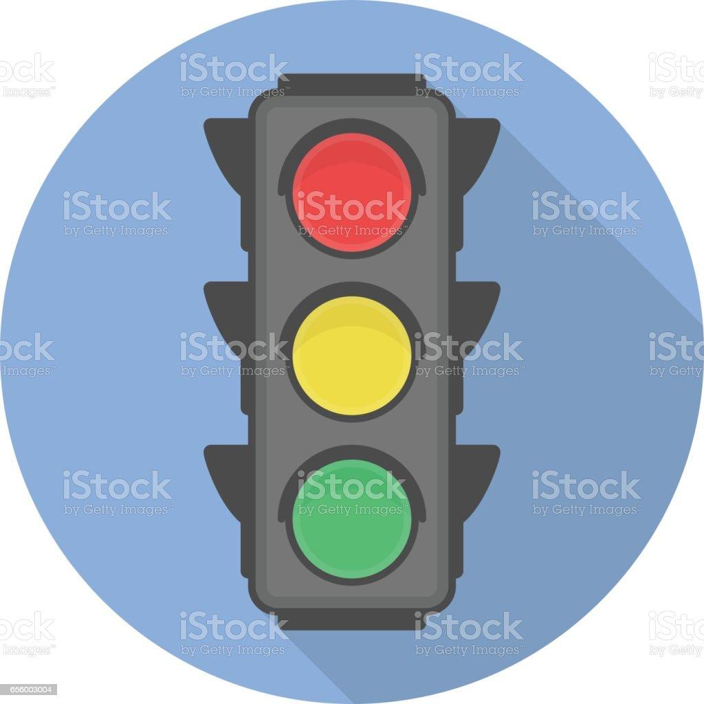 Icono de vector de semáforo. - ilustración de arte vectorial
