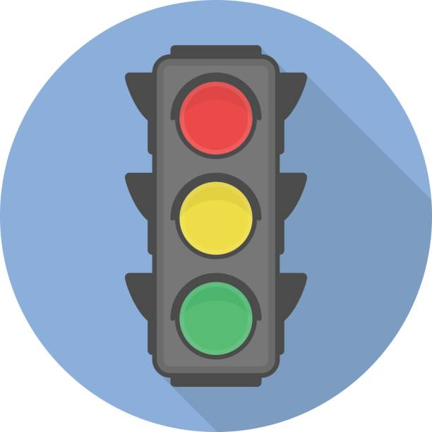 traffic light vector icon. - stoplights stock illustrations, clip art, cartoons, & icons