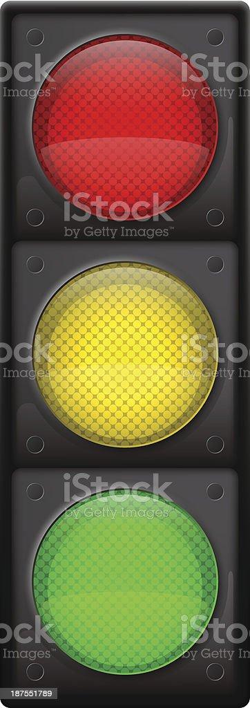 Traffic light vector art illustration