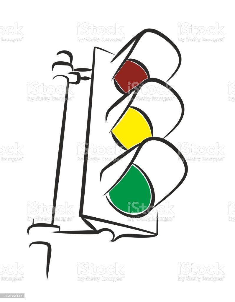 Traffic light. vector art illustration
