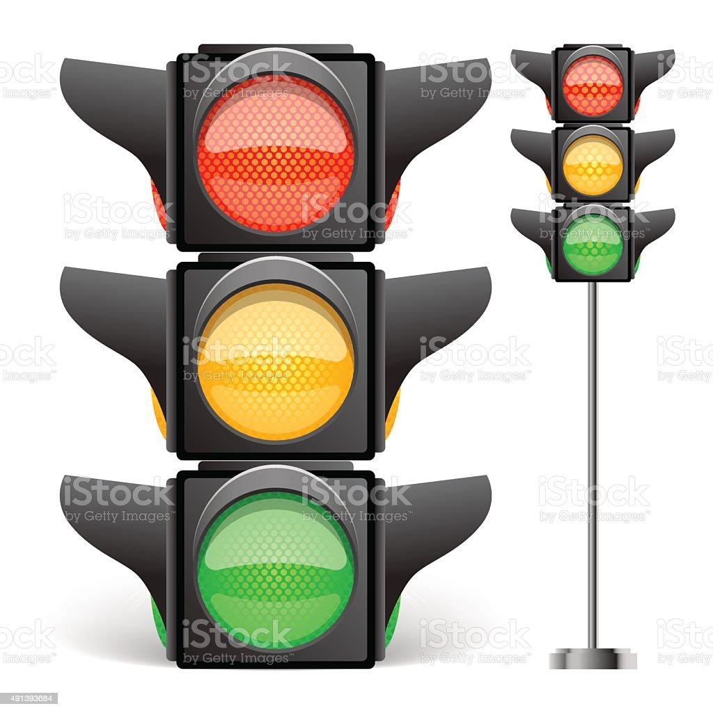 Traffic light vector illustration vector art illustration
