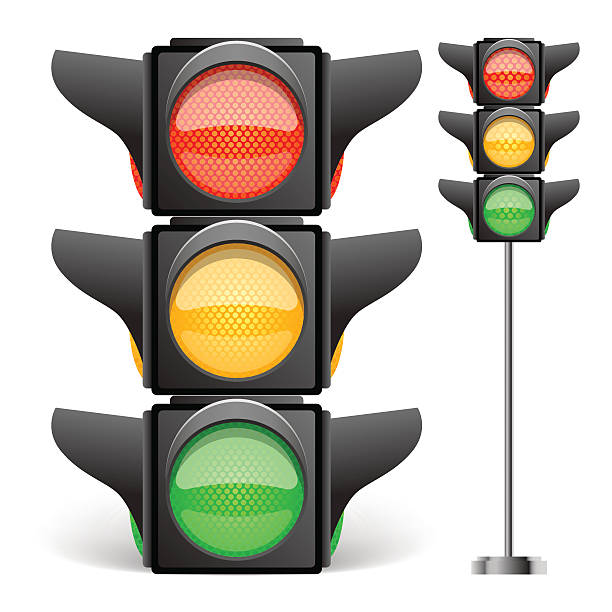 traffic light vector illustration - stoplights stock illustrations, clip art, cartoons, & icons