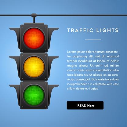 Traffic Lights Banner.