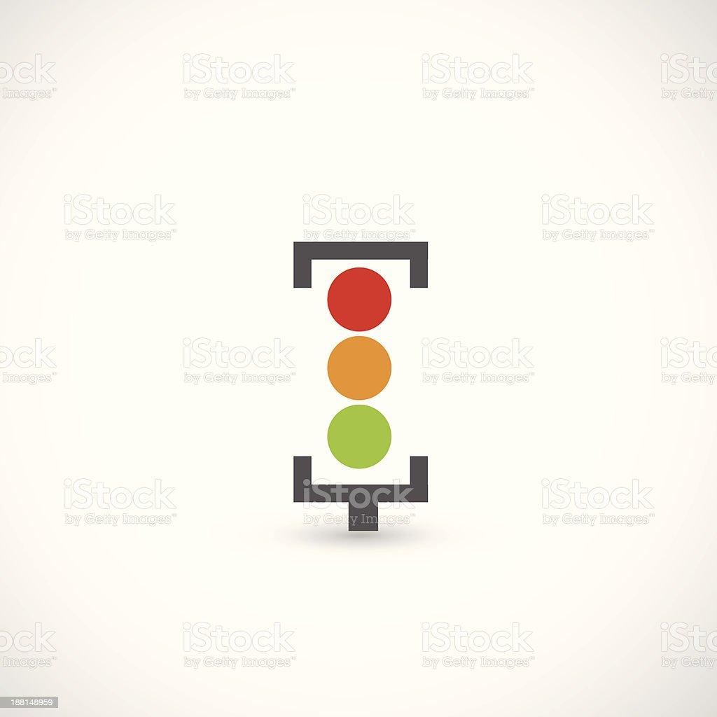 Traffic lights icon vector art illustration