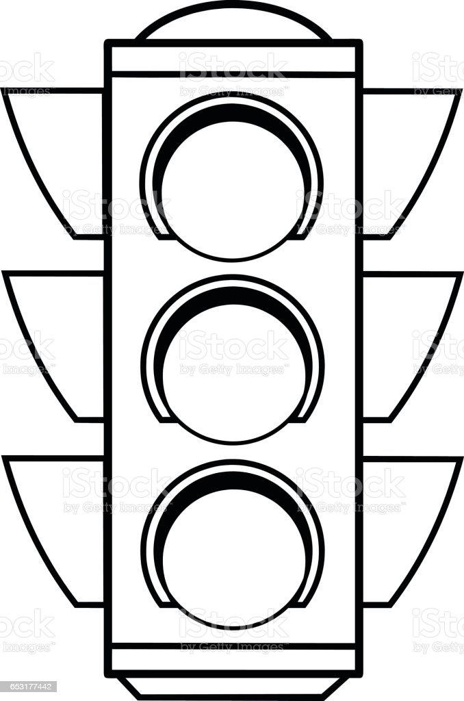 Traffic Lights Illustration Stock Vector Art 653177442 Trafic Robot Coloring Sheet