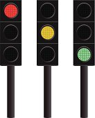Vector illustration of traffic lights.  Fully editable for any combination.