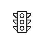 istock Traffic Lights Line Icon 1294815620