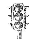 Traffic Lights Symbol Drawing