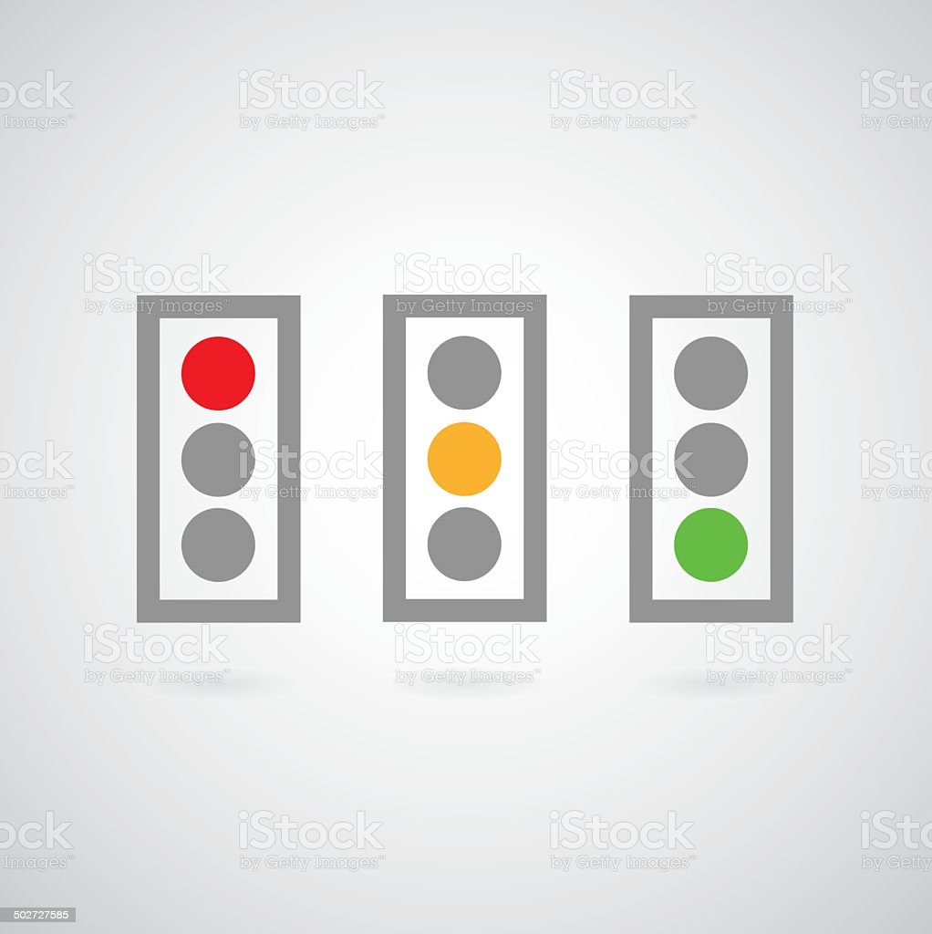 Traffic lights symbol vector art illustration