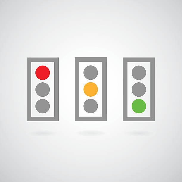 traffic lights symbol - stoplights stock illustrations, clip art, cartoons, & icons