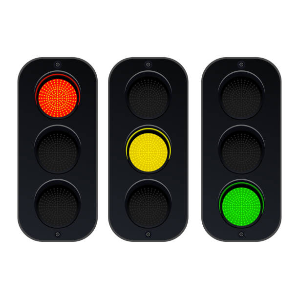 traffic lights vector design illustration - stoplights stock illustrations, clip art, cartoons, & icons