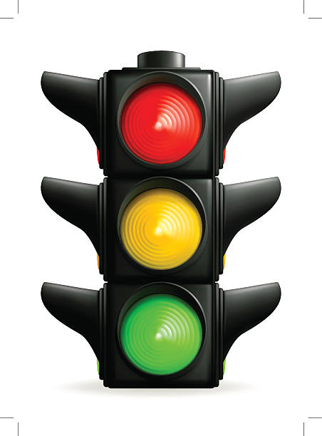traffic lights - stoplights stock illustrations, clip art, cartoons, & icons
