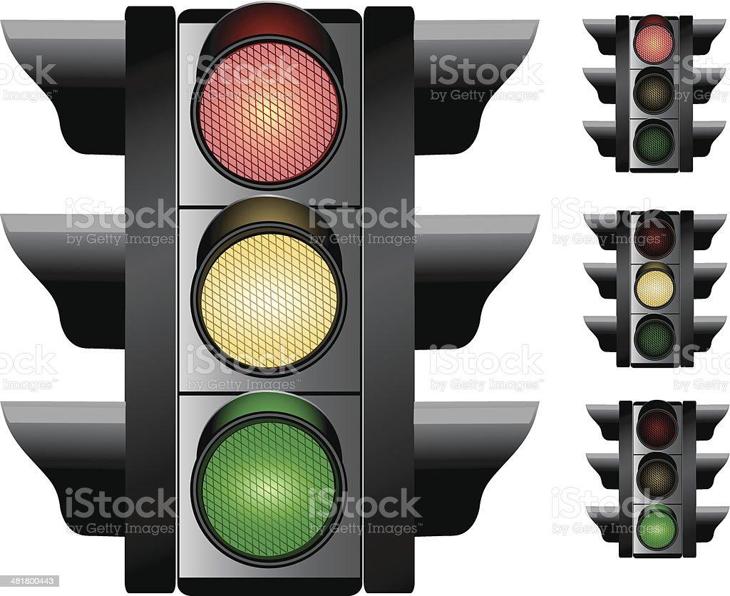 Traffic Lights royalty-free stock vector art