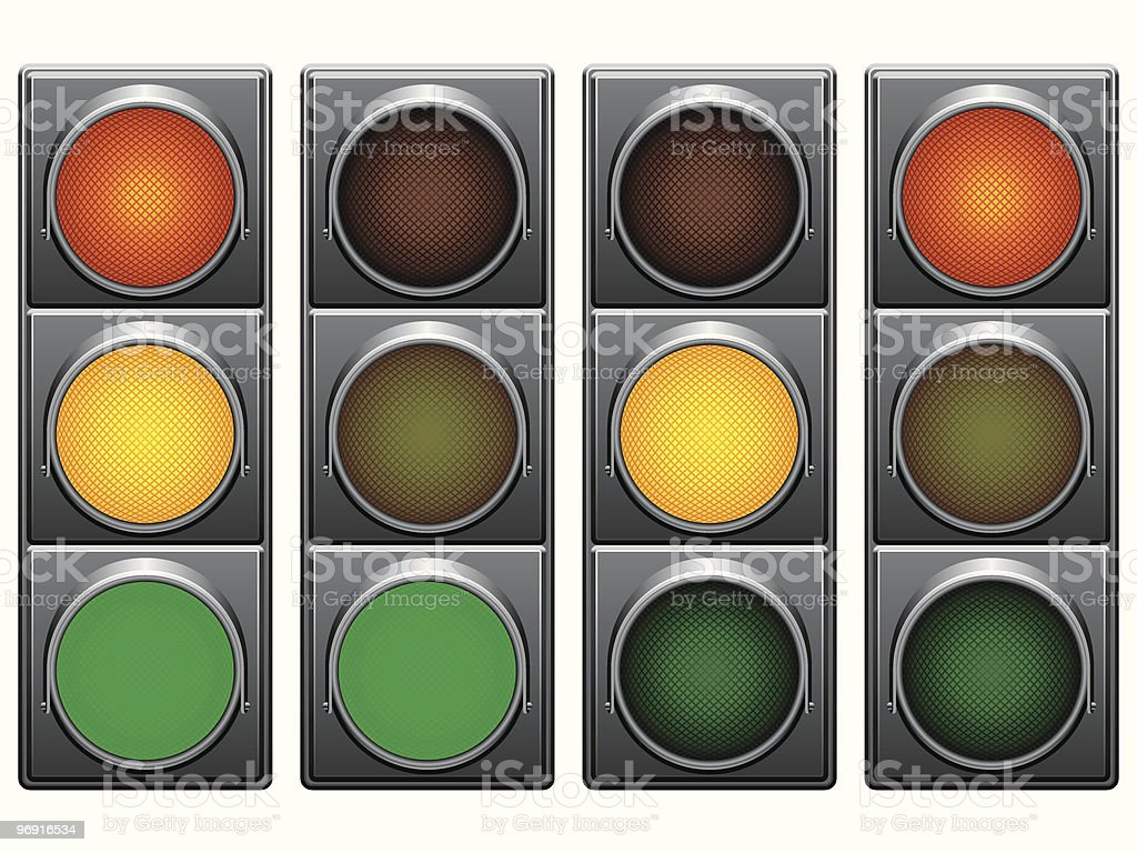 Traffic lights. royalty-free traffic lights stock vector art & more images of city life
