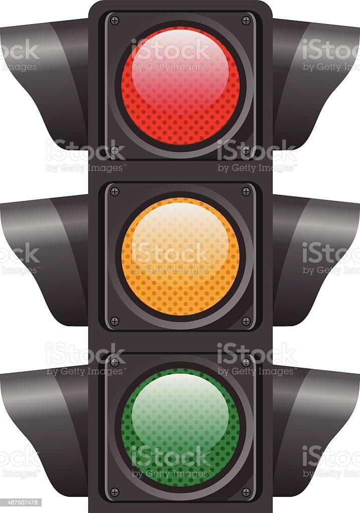 Traffic lights. Vector illustration vector art illustration