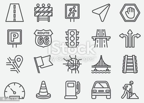 Traffic Line Icons