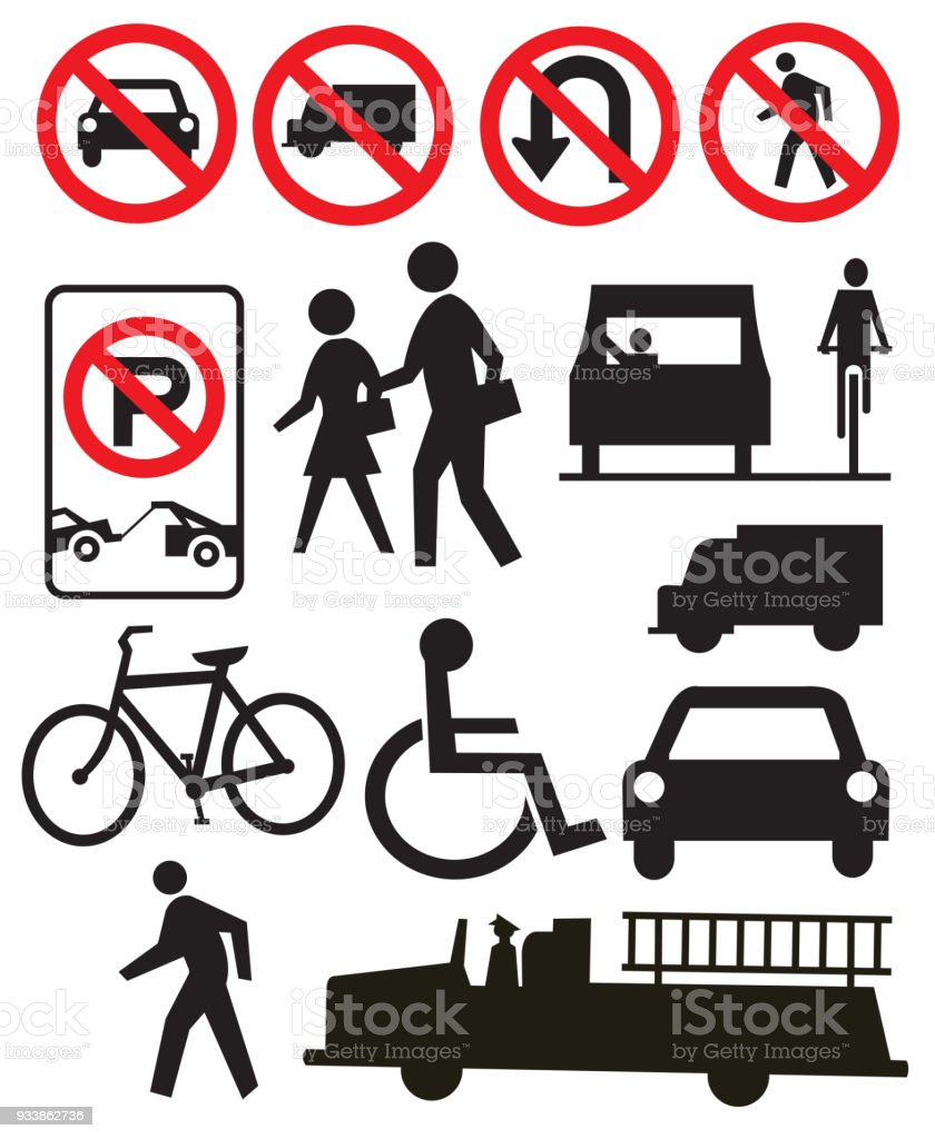traffic or street sign icons stock vector art more images of arrow